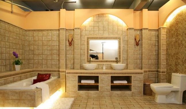 美容院洗手间和美容间装修效果图