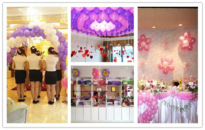 小美容店怎么用氣球布置店面,凸顯氣氛